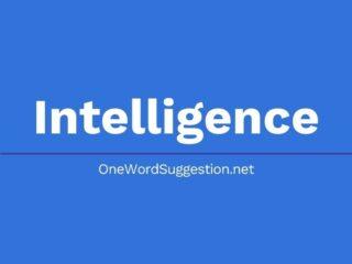 One Word Suggestion: Intelligence